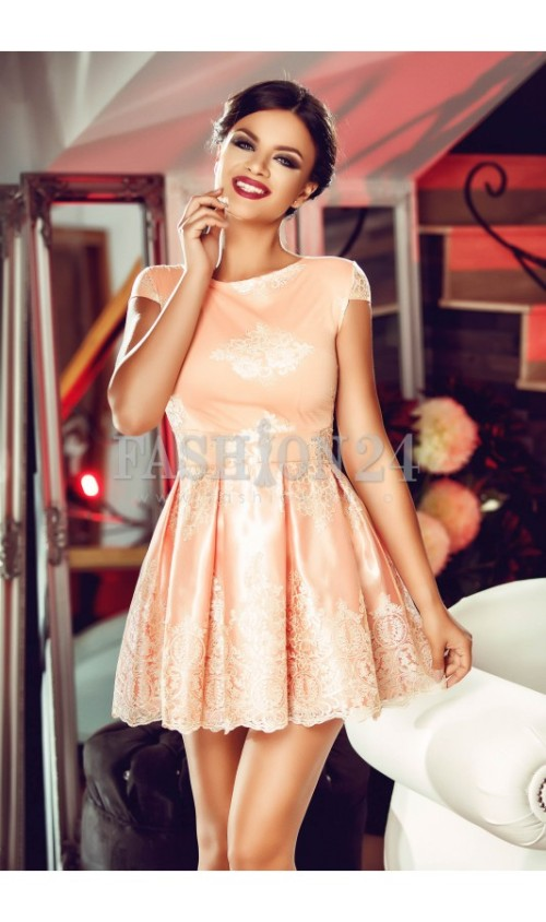 rochie-peach-embroidered