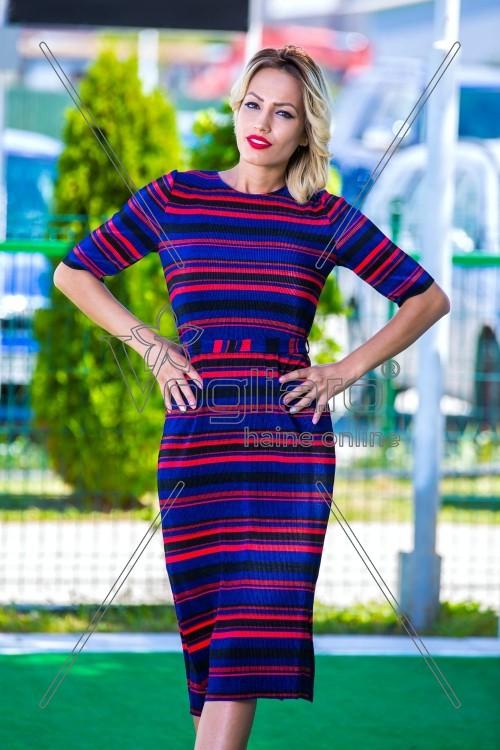 rochie-trei-sferturi-cu-dungi-multicolore-1501742517-4