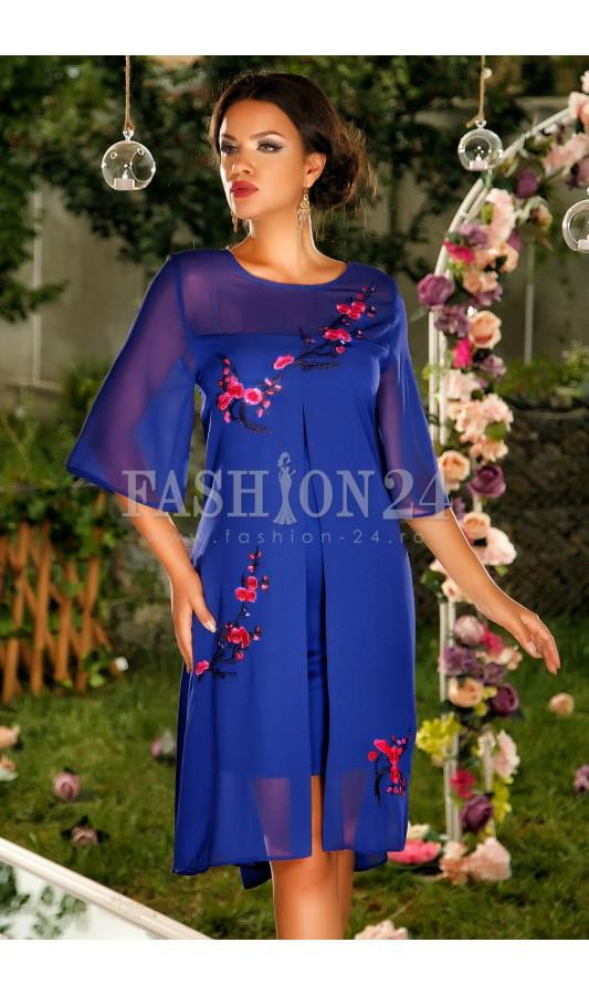 rochie-blue-intense-flowers
