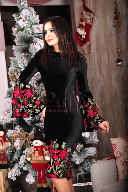 rochie-eleganta-neagra-din-catifea-cu-flori-brodate-1511881922-4