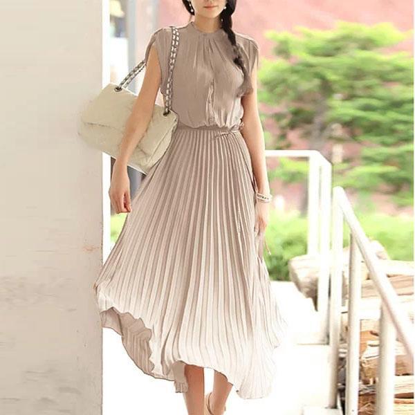 rochie de primavara midi plisata